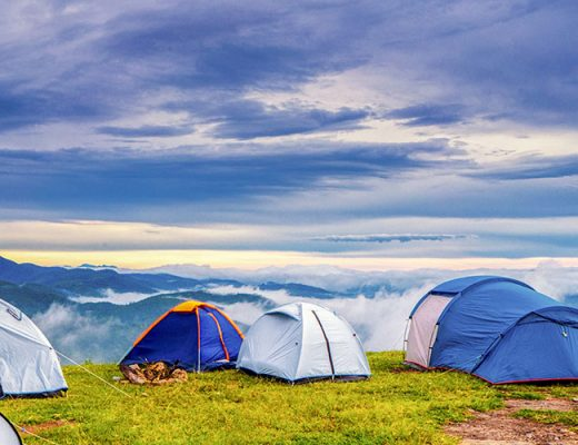 tents on the mountain