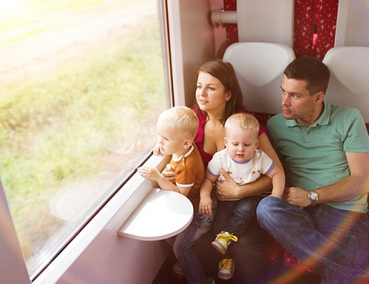 train traveling with kids