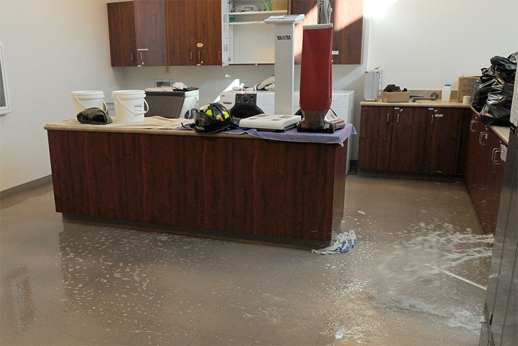 water pipe burst