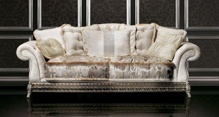 white italian sofa