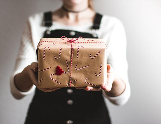woman offering gift