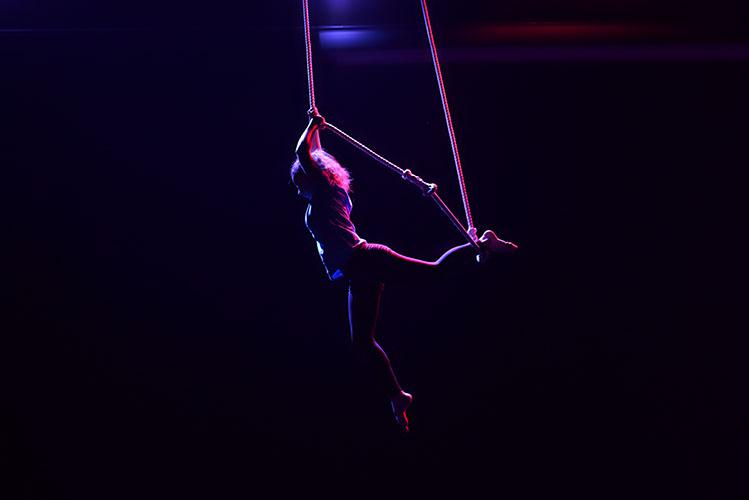 woman trapeze artist