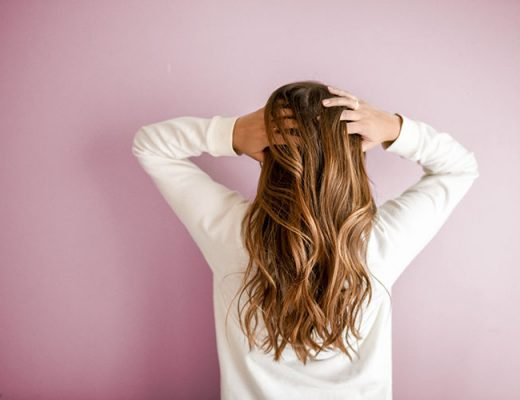young woman with beautiful long hair